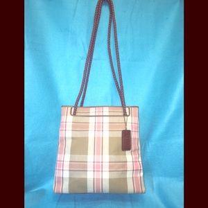 Relic plaid canvas shoulder bag.
